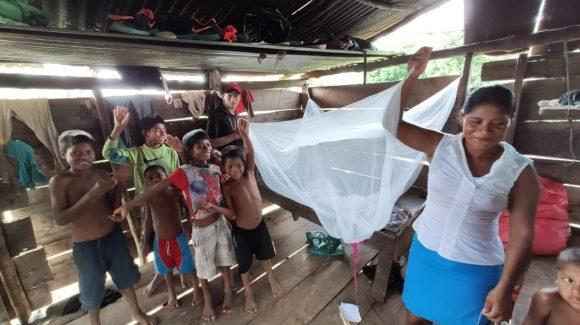 Comunidad Alto Rio Wanky, Jinotega recibe mosquiteros con MTILD