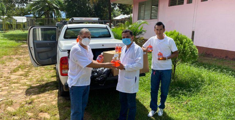 Entrega de equipo de protección personal para los Col-Vol en municipios de Kukra Hill y Laguna de Perlas