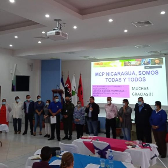 Asamblea General ordinaria del Mecanismo Coordinador de País – Nicaragua y presentación de las y los miembros de la asamblea  del MCP, periodo 2021 – 2022.