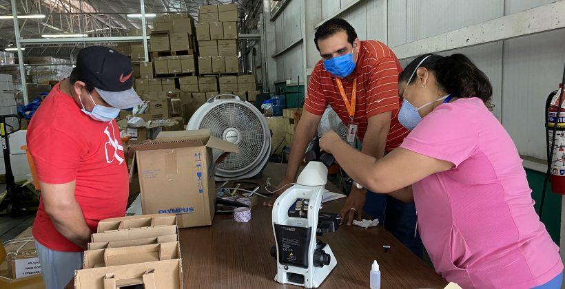 MCP y RP World Vision entregan microscopios en CIPS – MINSA | COVID-19