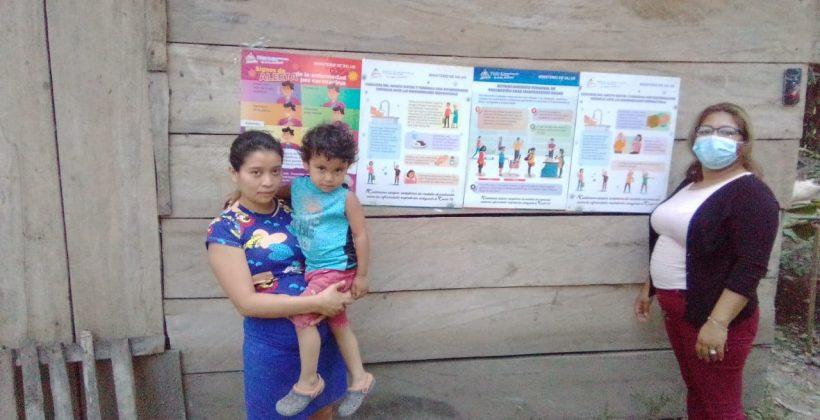 MCP entrega materiales de prevención Covid-19 en Comunidad Los Limones dos, Estelí