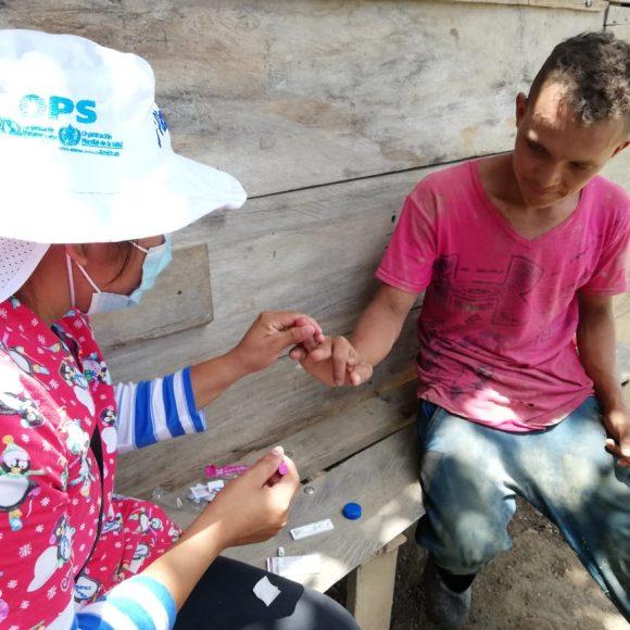 Visita de acompañamiento en SILAIS, Las Minas, Componente de Malaria MINSA y sus socios (RP Nica Salud y proyecto BID IREM).
